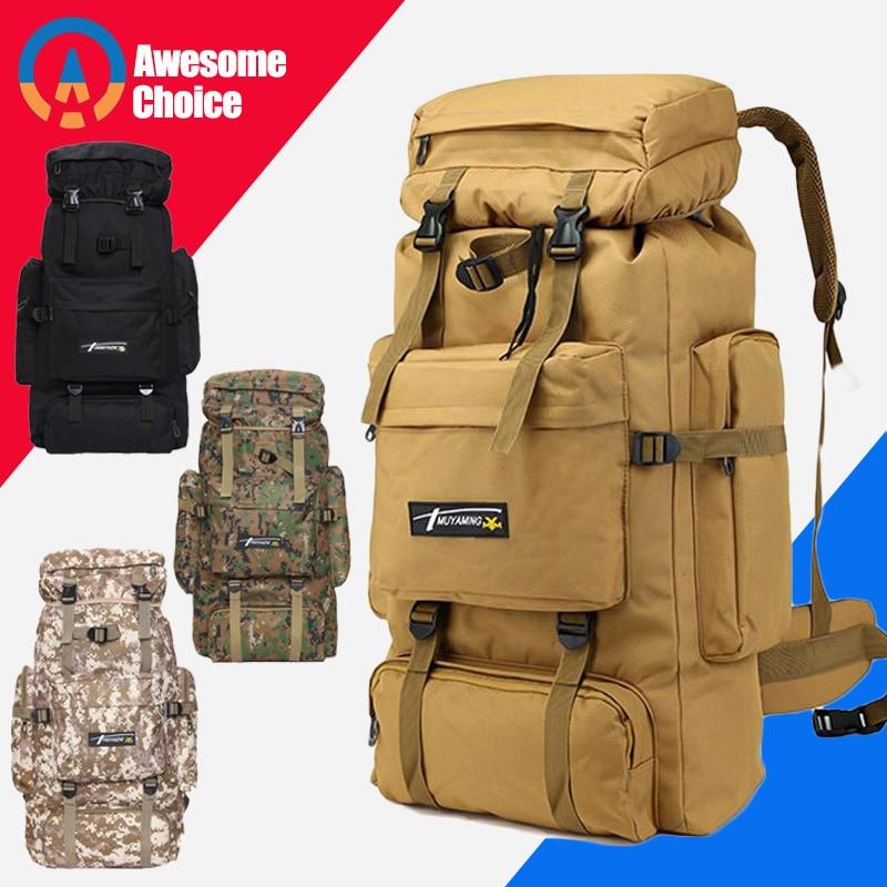 70L Waterproof Rucksack Backpack Bag Outdoor Sports Camping Hiking Trekking